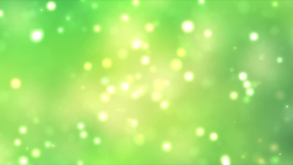 Sunny abstract green nature background, with light bokeh