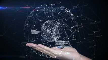 Hand presenting a tech design
