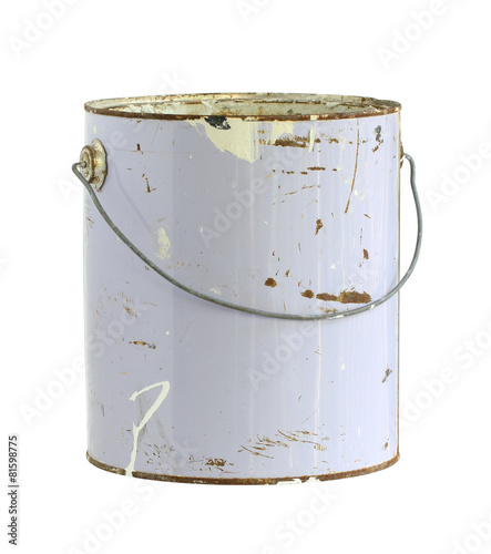 canvas print picture Paint can (with clipping path) isolated on white background