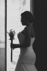 Bride Besides a Window