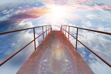 Fondo cristiano. La fe y la puerta del cielo