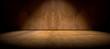 Fondo pared y suelo  de cemento en la oscuridad - 81599529