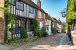 Tudor Houses on a Cobbled Street - 81599580