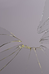 broken glass grey background