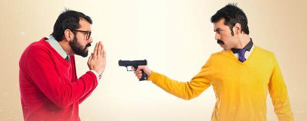 Man shooting his brother