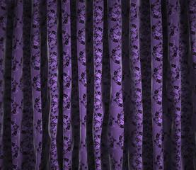Fondo cortinas vintage con motivos florales