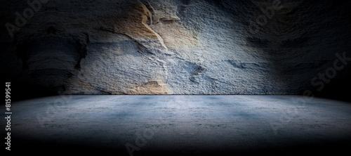 Papiers peints Pierre, Sable Fondo suelo de cemento y pared de roca