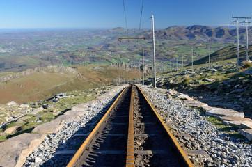 Rack railroad in the mountain