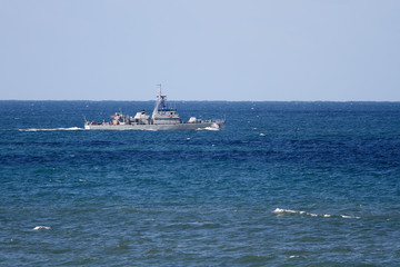 Small war navy ship