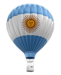 Hot Air Balloon with Argentinian Flag (clipping path included)