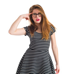 Girl making crazy gesture
