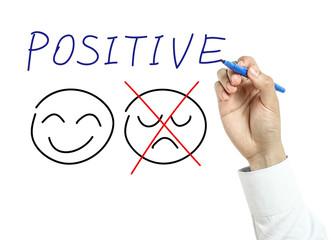 Businessman drawing Positive concept