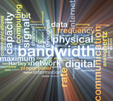 bandwidth wordcloud concept illustration glowing poster