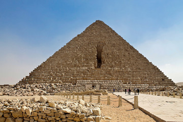 Great Pyramid of Cheops at Giza in Egypt
