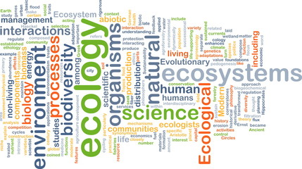 ecology wordcloud concept illustration