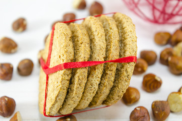 Bunch of integral cookies tied with a ribbon