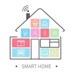 smart home outline icon
