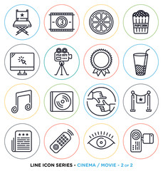 Vector collection of entertainment business symbols & objects.