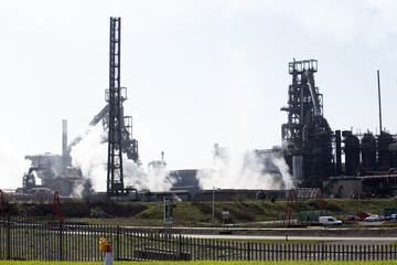 Steelworks coke blast furnace Port Talbot South Wales UK