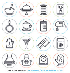 Vector collection of kitchen and cooking symbols