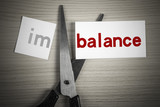 Cut balance from imbalance poster