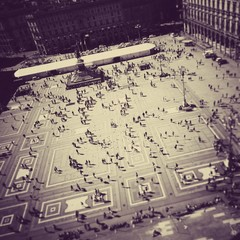 Piazza Duomo Milan Italy from roof