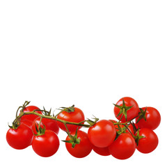 tomatoes cherry on the white isolated  background