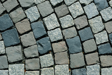 street with stone tiles