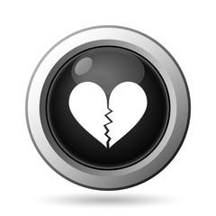 Broken heart icon