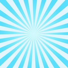 Blue Vector Sunburst Background