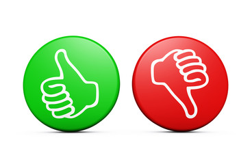 Positive Negative Customer Feedback Buttons