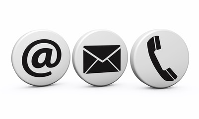 Web Contact Us Icons On Buttons