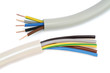 Leinwanddruck Bild - Electric cable on white background.