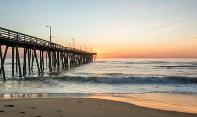 Sunrise off 14th st. Pier