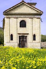 Old rural church in Monferrato. Color image