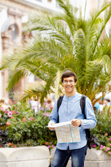 Tourist with map in hands