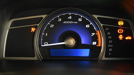 start car dashboard and Odometer