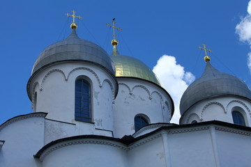 domes and crosses of the Saint Sophia Cathedral