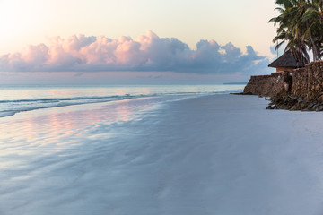 beach in Kenya, white, island, palm, tree, sun, africa