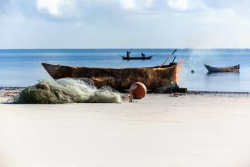Coast of Mombasa, Kenya, ocean, clouds, coast