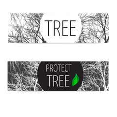 banners protect tree