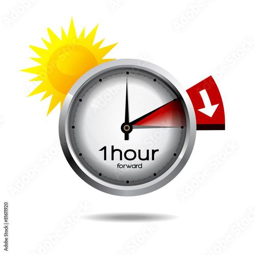 Zdjęcia na płótnie, fototapety, obrazy : Clock switch to summer time daylight saving time