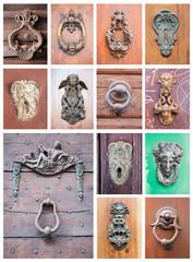 collage of door's knockers
