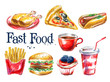 fresh food vector logo design template. hot dog, hamburger or - 81613190