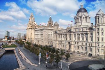 View of Liverpool docks, UK