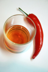 Whiskey with chili
