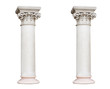 Leinwanddruck Bild - Two white columns in the classical style isolated on white backg