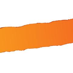 Ripped Paper - Orange