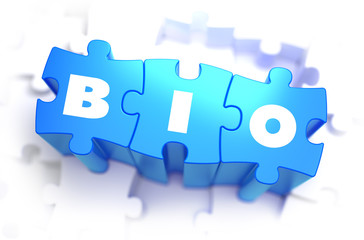 BIO - White Word on Blue Puzzles.