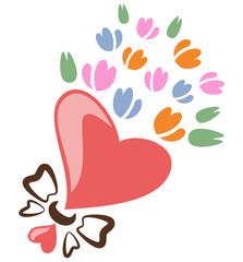 チューリップ 花束